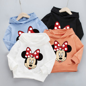 2020 Spring and Autumn New Boys and Girls Hooded Sweater Baby Western Style Hooded Cartoon Shirt Bottoming Children's Clothing