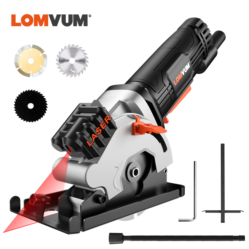 LOMVUM Mini Circular Saw With Laser Blades Power Tools Electric Tools 480W Electric Saw Multifunctional For Wood Metal Cutters