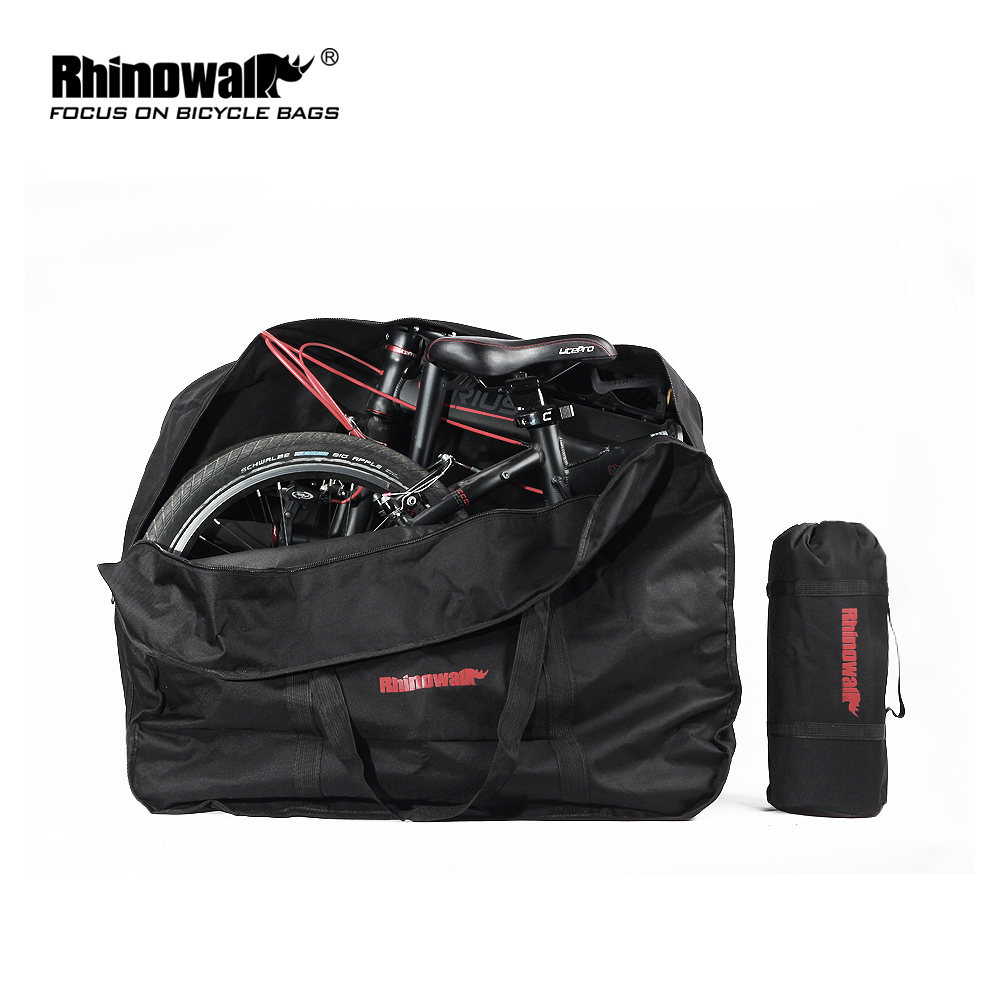 "Rhinowalk 14""16""20"" Big Folding Bike Carrier Carrying Bag Foldable Bicycle Transport Bag Waterproof portable bike accessories"