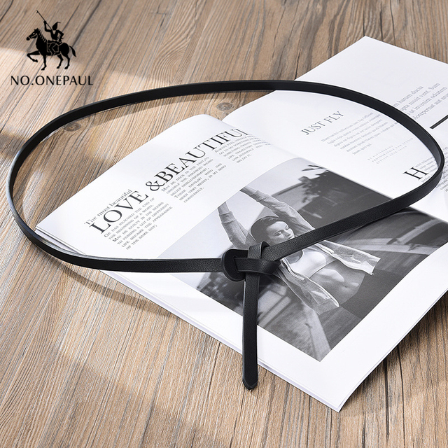 NO.ONEPAUL the belt for women Simple dress decorated  elegant belt fashion designer design slim waist high quality women belts 6
