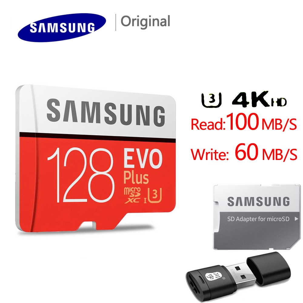 Original SAMSUNG 128GB U3 Micro SD 256GB Micro SD Card SD/TF Flash Card32GB 64GB Memory Card 32 64 128 gb microSD for Phone