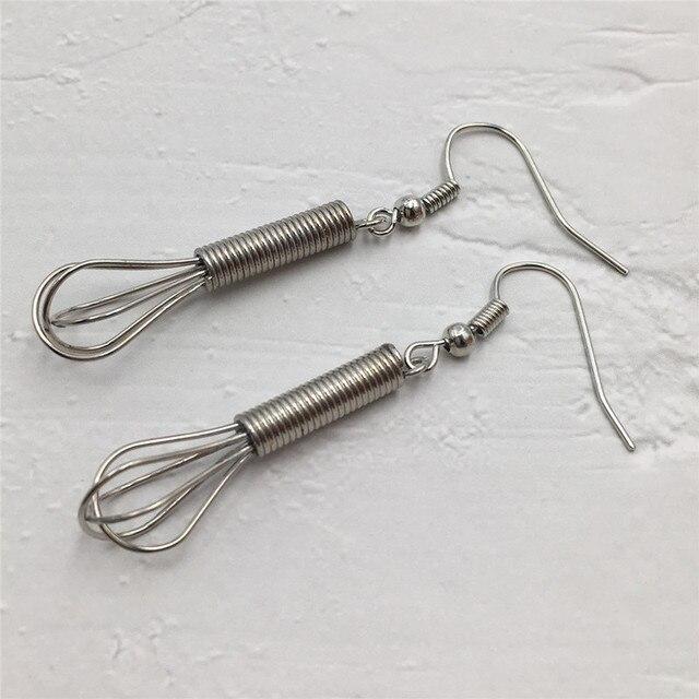 Silver Whisk Earrings