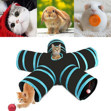 Foldable Pet Cat Tunnel Pet Cat Kitten Puppy Tunnel Play Toy 5 WAY Foldable Exercise Tunnel Funny Toys Kitty Puppy Training(China)