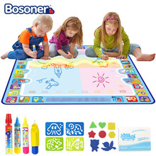 100x100cm Magic Water Drawing Mat Doodle Mat & 4 Drawing Pens & 1 Stamps Set Painting Board Educational Toys for Kids