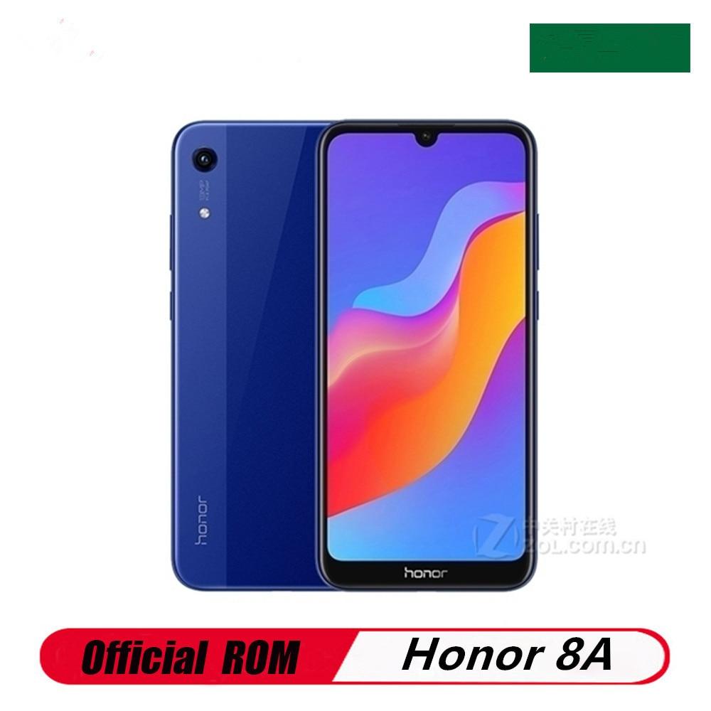 Оригинальный Honor 8A 4 аппарат не привязан к оператору сотовой связи мобильный телефон 13.0MP + 8.0MP Face ID MTK6765 Octa Core 6,09