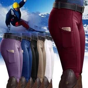 Yoga-Pants Leggings Equestrian Women Abdomen-Control High-Waist Running Hip-Lifting Solid-Color
