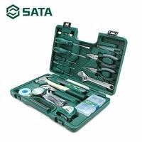 SATA 36Pcs Ferramenta Kit Conjunto de Ferramentas Chave De Fenda Chave de Mão Mecânico Casa Caixa Casa