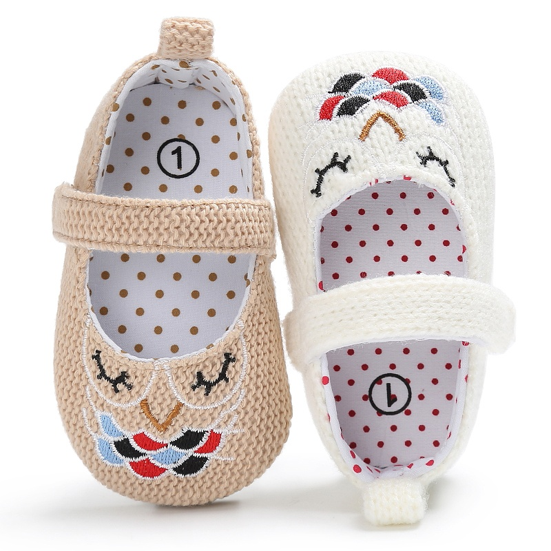 Kids Girls Spring Vintage Princess Style Embroidery Anti-skid Casual Baby Cack Shoes
