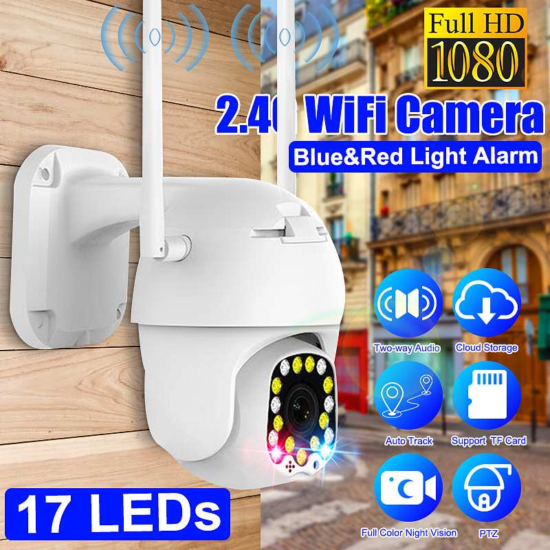1080P Security Camera Full Color Night Vision Smart IP Camera IP66 Waterproof Movement Detect Two-way Audio CCTV Monitor