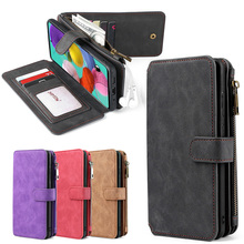 Wallet PU Leather Phone Case For Samsung Galaxy M31 Note9 A21E A40 A50 A51 A70 A71 S8 S9 S10 S20 S21 Plus Note20 Ultra S20FE