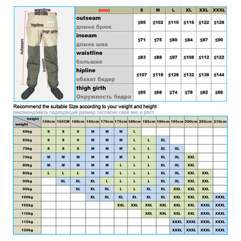 Fishing Waders Hunting Suit 3 Layer Waterproof Wading Pants with Neoprene Boots Waist or Chest Fly Fishing Clothes Overalls 6