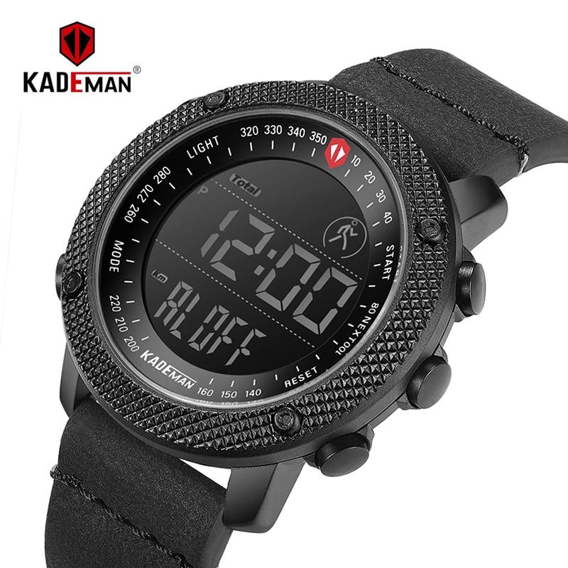 Nuevo reloj deportivo KADEMAN de marca de lujo para hombre, impermeable, Digital, LED, militar, de moda, Casual, reloj electrónico, reloj de pulsera, 6121G-in Relojes deportivos from Relojes de pulsera    1