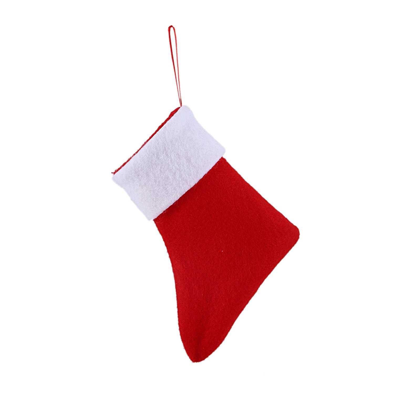 1 шт. Рождественский носок форма сумка для посуды конфеты подарочные сумки милый Карманный вилка держатель ножа Рождественский стол ужин украшения