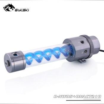 Bykski 18W D5 Combo Pump + Reservoir Combo Maximum Flow Lift 3.8 Meter 1100L/H T-Virus Water Tank Length 140/210mm Combo Gray
