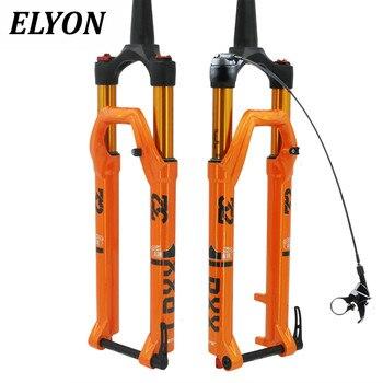 ELYON MTB Suspension Fork 27.5er 29er Magnesium Alloy Air Resilience  Anti-Shock Tapered Thru Axle Fork HL RL Black Orange цена 2017