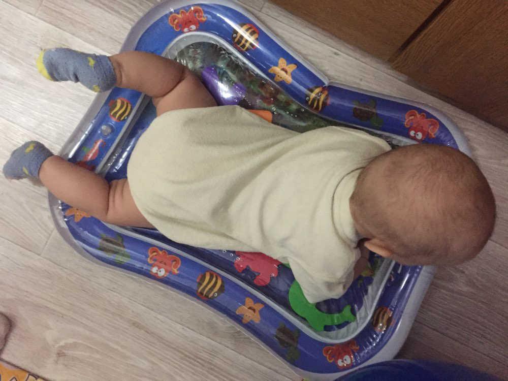 Yaz şişme su paspası bebekler için güvenlik yastık buz mat erken eğitim oyuncaklar oyna