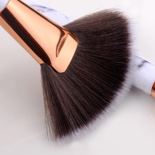 FLD 10 Pcs Professional Makeup Brushes Set Full Function Foundation Eye Powder Fan Blush Brush Makeup Tools Brushes Set Kit 5