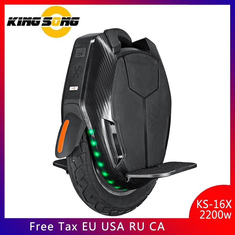 KingSong KS-16X Electric unicycle Longest Mileage Single wheel 3000W motor 1554wh battery speed 50km/h Dual Charging
