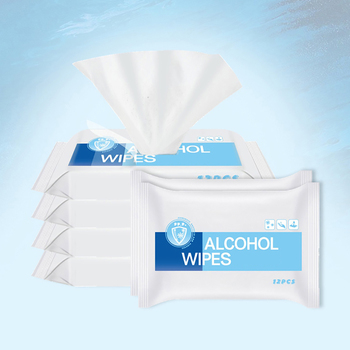 12pcs/Bag Portable Disposable Disinfecting Wipes 75% Alcohol Wet Wipes Antibacterial Wipes Sanitizing Wipes for Hands недорого