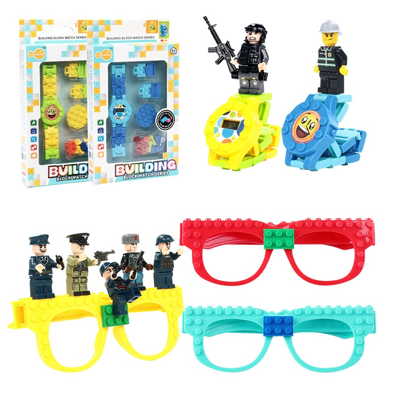 Building Blocks Watch Toy Legos Friends Ninjagoing Toy DIY Building Blocks Glasses Baseplate Frame AvengersING Bricks Kids Gifts