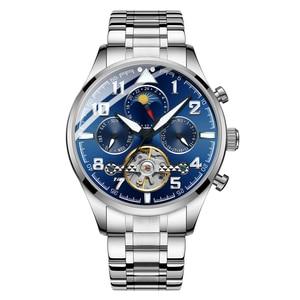 Image 5 - HAIQIN Mechanical Mens watches top brand luxury watch men Business Military wristwatch men Tourbillon Fashion 2019 reloj hombres