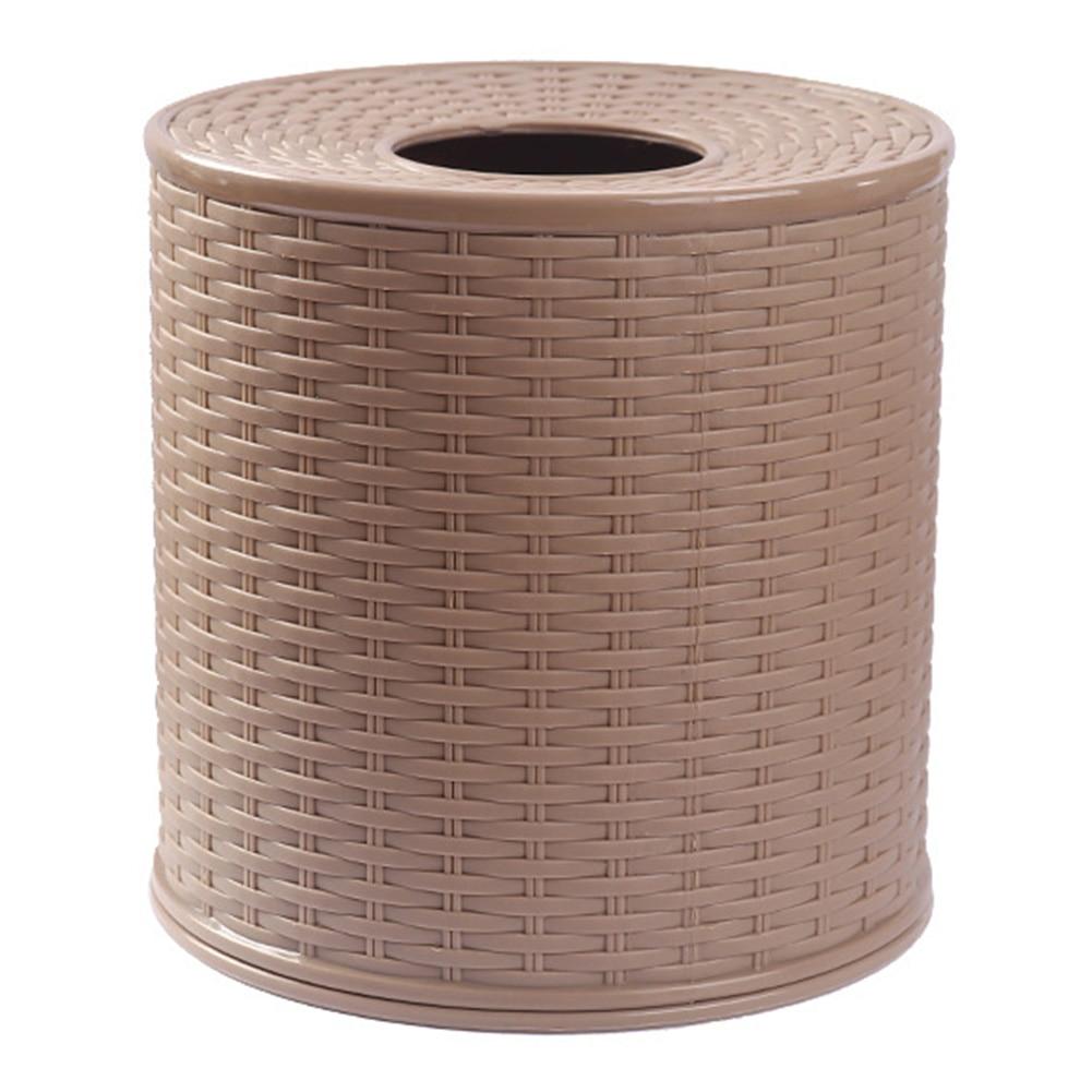 Paper Storage Round Container Napkin Holder Toilet Home Desktop Dustproof Bathroom Tissue Box Gift Living Room Hotel Bedroom