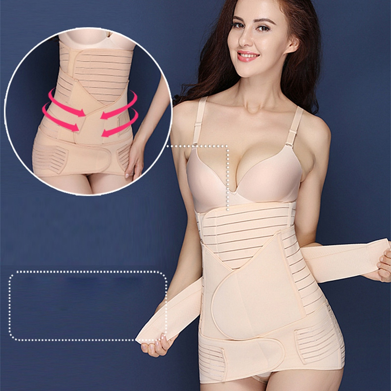 DaiLiXiang 3 In 1 Postpartum Belt Body Recovery Shapewear Belly Slim Waist Cinchers Breathable Trainer Corset