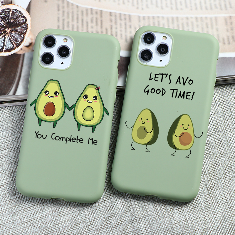 Matte Phone Fundas For iPhone 11 Pro XS Max X XR 6 S 6S 7 8 Plus 5 5S SE Cute Avocado Cover For iPhone 7 Plus Soft Silicone Case