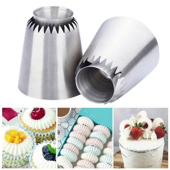 Sultan tube Russian Pastry Tip 1Pcs Icing Piping Stainlessl Steel Nozzles Cookie Large Cupcake BakinTool