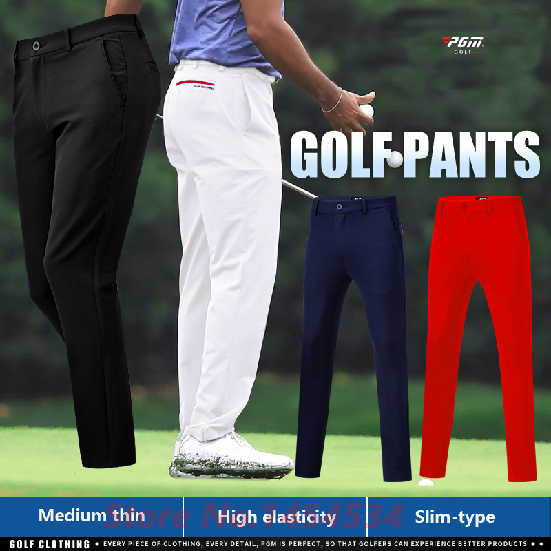Send Socks! Professional Men Golf Wear Male Spring Summer Breathable Trousers High-elastic Sports Casual Pants Slim Fit XXS-XXXL