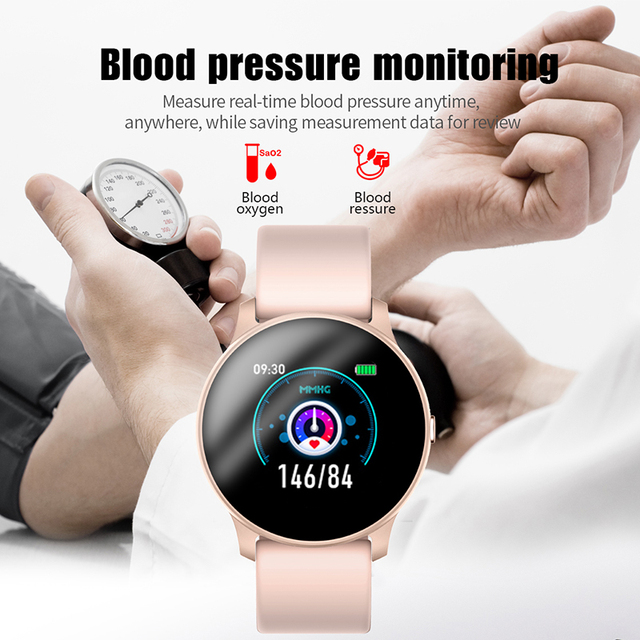 LIGE Fashion Sports Smart Watch Men Women Fitness tracker man Heart rate monitor Blood pressure function smartwatch For iPhone 5