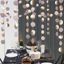 Backdrop Banner Shower-Decoration Curtain Circle-Paper-Garland Tassels Glitter Bunting-String
