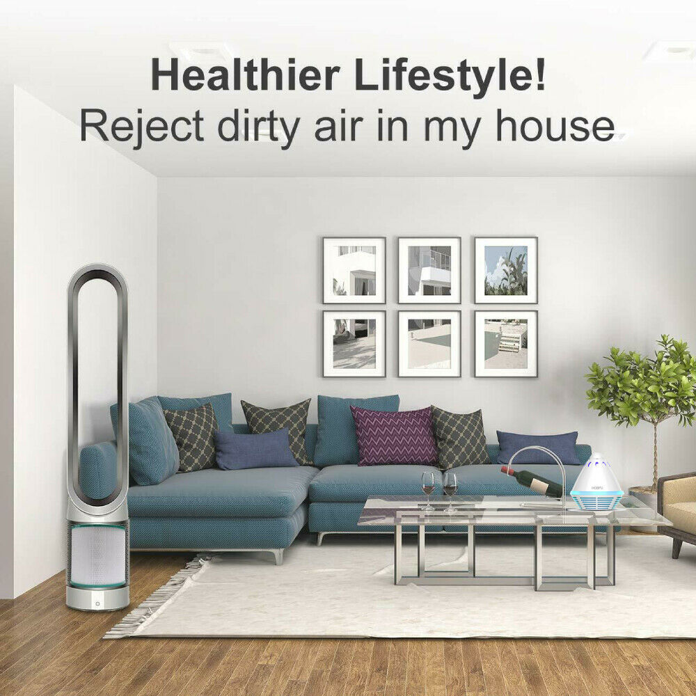 Купить с кэшбэком HOBFU Portable Desktop Air Purifier Tower Shape Air Cleaner Hepa Type Homes Purifier Remove Cigarette Smoke Odor Smell For Home