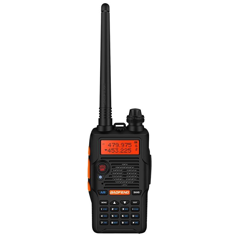 Baofeng UV-5R V walkie-talkie 1 шт. Профессиональный fm-приемопередатчик с гарнитурой 136-174/400-520mHZ ham radio comunicador Black
