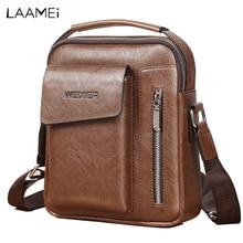 LAMMEI, bolsos de mano para hombre, bolso de mensajero de cuero Vintage a la moda para hombre, bolsos de negocios con cuerpo cruzado para hombre, bolsas masculinas 2019