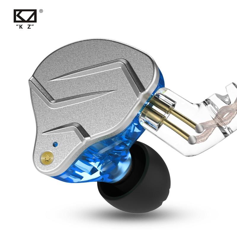 Kz zsn pro em fones de ouvido tecnologia híbrida 1ba + 1dd alta fidelidade graves metal esporte com cancelamento ruído fone monitor