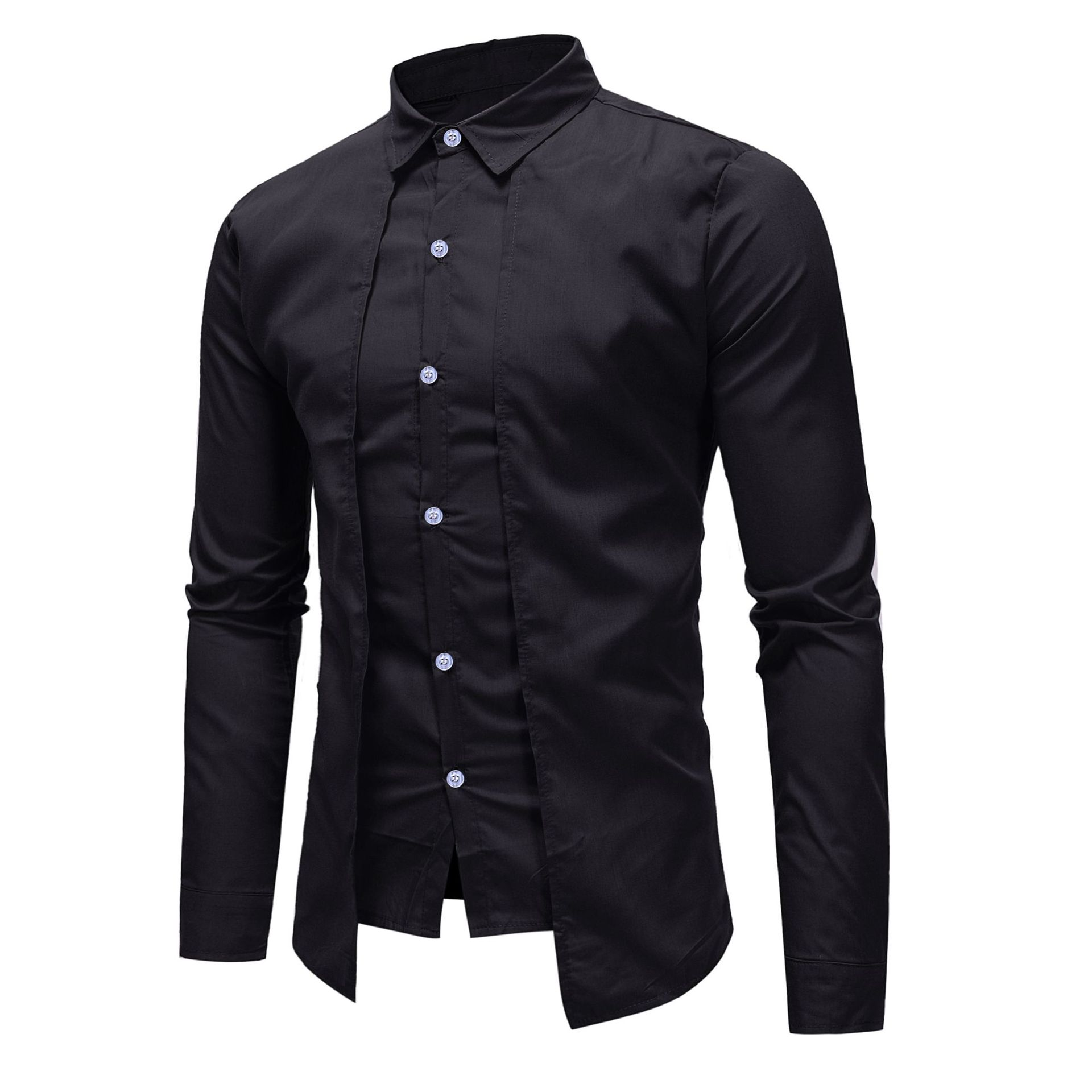 Coolred Mens Lapel Long-Sleeve Button Down Floral Print Fashion Shirts