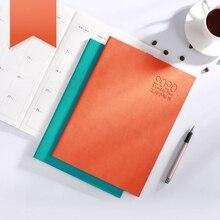 Блокнот-календарь креативный простой Одноцветный ежедневник планировщик программа, блокнот и журнал, подарки, Товары для офиса