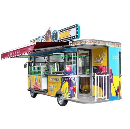 Customized2.5/3/3.5/4/4.5/5M Long Electric Food Vending Cart Mobile Coffe Fast Food Truck