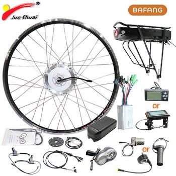 цена на BAFANG 8fun Electric Bike Conversion kit 48V 500W Electric Bicycle Kit 16AH 21AH e Bike Rear Rack Battery with Luggage Taillight