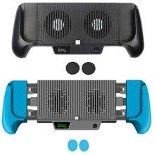 Hand Grip Lade Stand Cooling Pad Kühler Fan Ladegerät Halter Für Nintendo Schalter und Nintend Schalter Lite Mini Gebaut In batterie