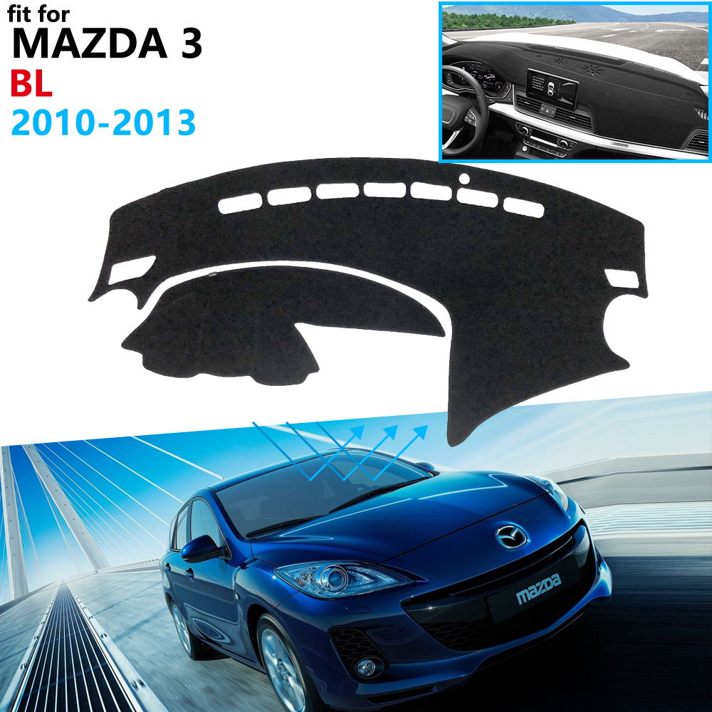 Dashboard Cover Protective Pad for <font><b>Mazda</b></font> <font><b>3</b></font> BL 2010 2011 <font><b>2012</b></font> 2013 MK2 Car <font><b>Accessories</b></font> Dash Board Sunshade Anti-UV Carpet Rug image