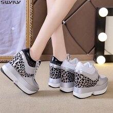 SWYIVY PU Chaussure Femme Casualรองเท้ารองเท้าผ้าใบผู้หญิง2019ใหม่ฤดูใบไม้ร่วงสูงWedgesรองเท้าผู้หญิงผสมสีสุภาพสตรีรองเท้า