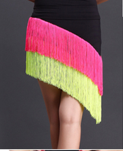 Hot sale  New Latin Dance Skirt For Adult Womens Fringed tilted dance dress Cha Tango Charleston skirt