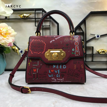 luxury handbags women bags designer European and American Fashion Handbag Genuine Leather purse Shoulder Bag of 2019 Catwalk Bag цена 2017