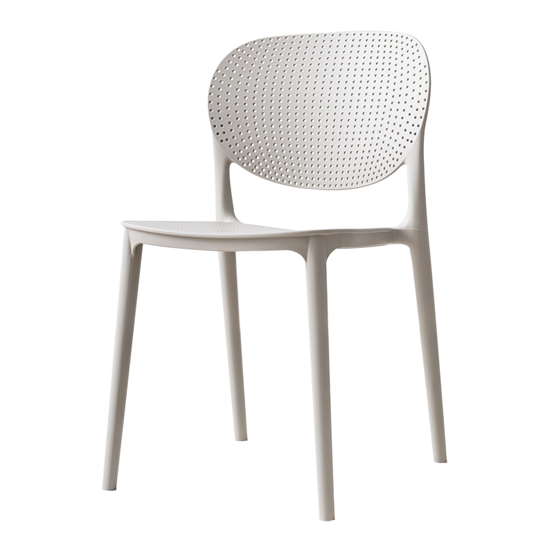 Plastic Chair Modern Minimalist Office Computer Chair Home Lazy Makeup Chair Fashion Padded Backrest Chair