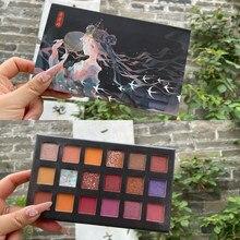 18 cores perolado fosco paleta de sombra brilhante brilho sombra de olho estilo chinês impermeável longa duração cosméticos tslm2