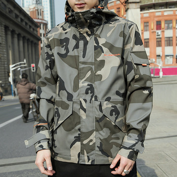 2020 New Men's Jacket Military Camouflage Tooling Jackes Wind Japanese Casual Hooded Jacket Tide Brand Retro Top фото