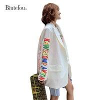 2019 Autumn cartoon print jackets fashion women new arrival chic Blazers