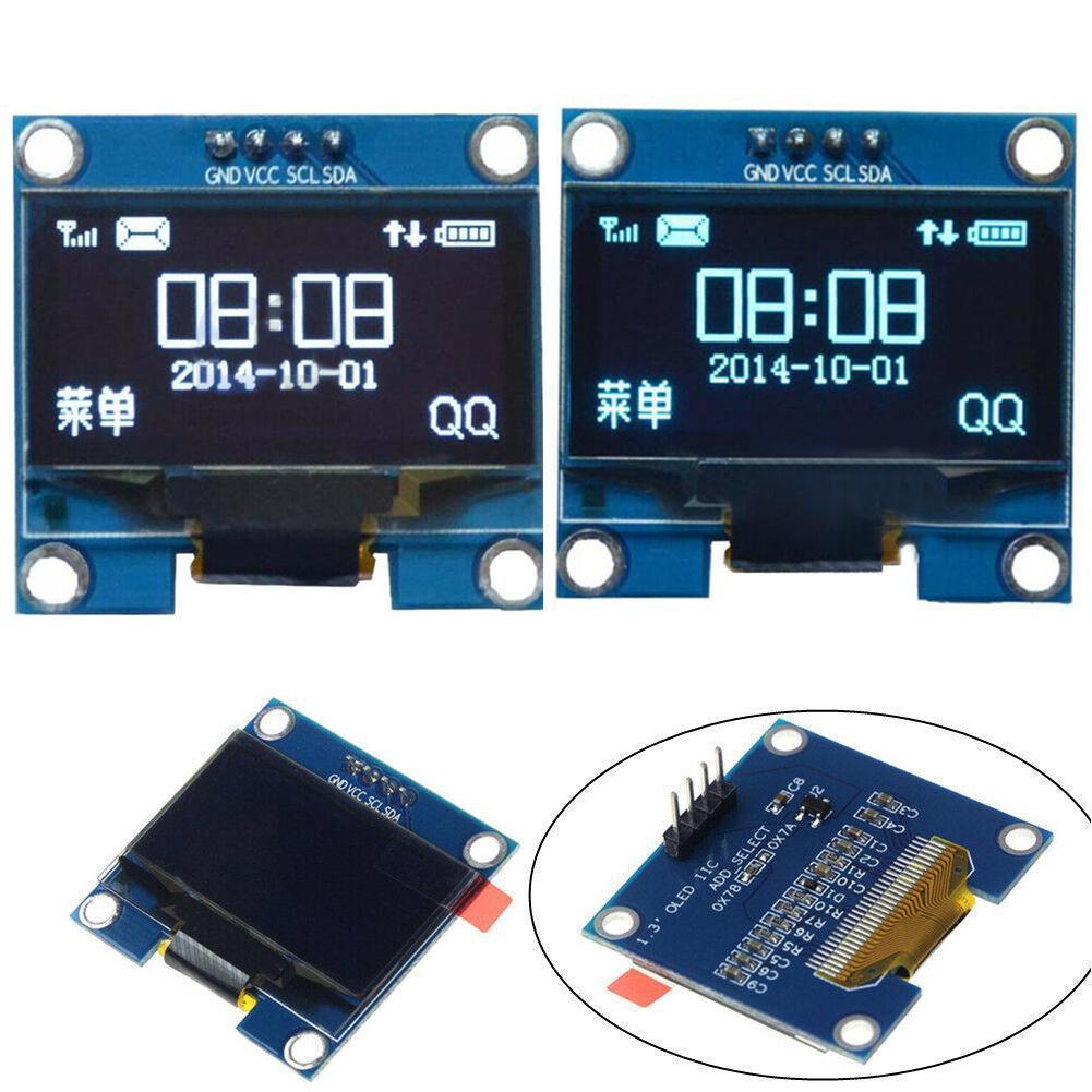 0.91inch OLED Module White/blue 128 x 32 OLED LCD LED For Ardunio Communicate Module Display IIC W4N0
